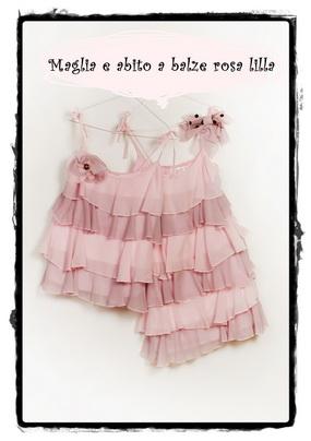 Maglia e abito balze rosa lilla