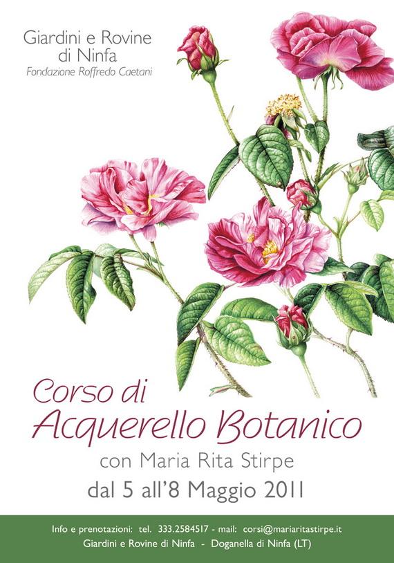 Maria rita stirpe corso acquerello botanico giardini di ninfa for Corso progettazione giardini