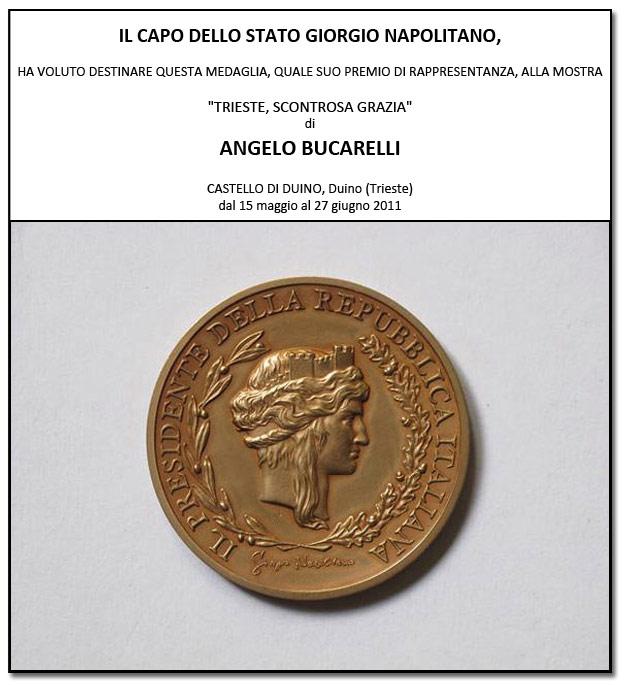Medaglia consegnata dal Capo dello Stato Giorgio Napolitano