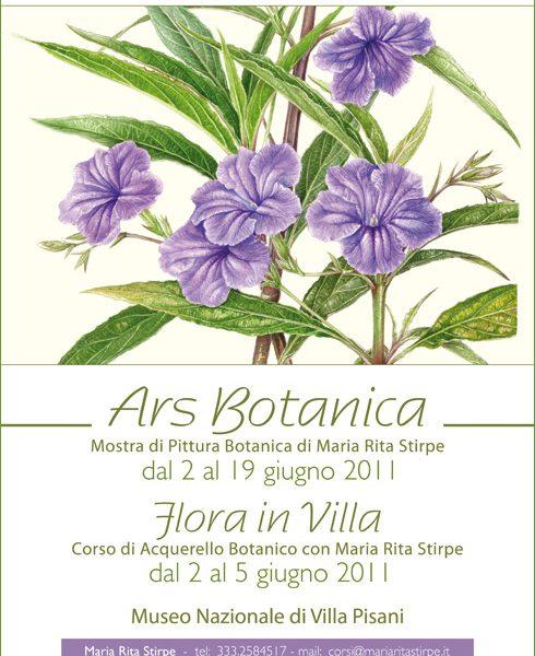 Mostra di Pittura Botanica e Corso di Acquerello Botanico di Maria Rita Stirpe